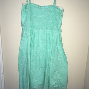 No Boundaries Dresses - Teal Polka dotted dress